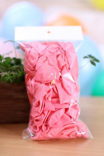 バルーンファン100個/ピンク