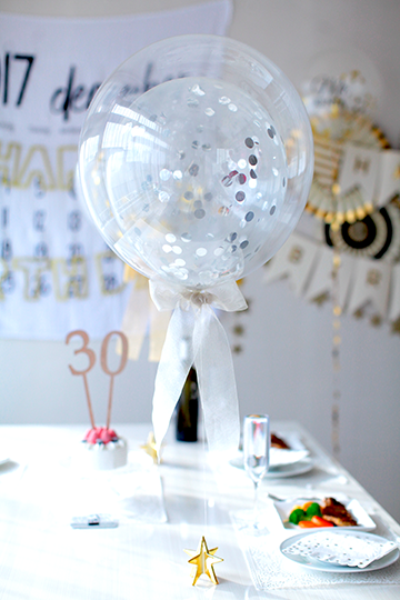 【バルーン パーティー】コンフェティ SILVER STAR☆
