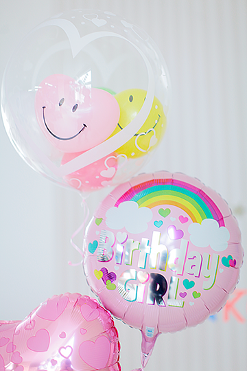 【誕生日 バルーン】BIRTHDAY  GIRL レインボー