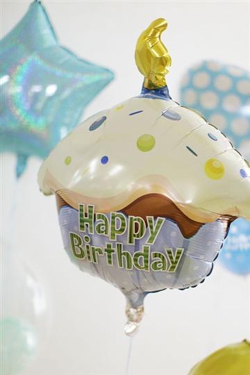 【誕生日  バルーン】BDカップケーキブルー CTI-M