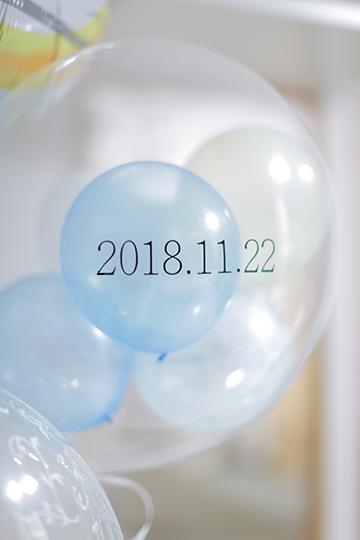 【結婚式 日付入れ】日付シール*Black/�T