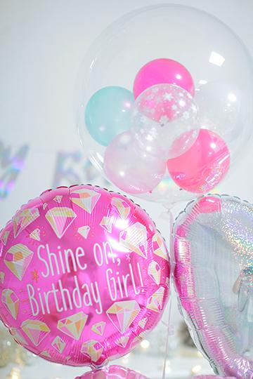 【誕生日バルーン】Shine on birthday girl♪