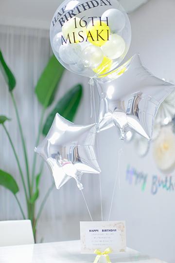【誕生日バルーン】お名前と年齢入り BIRTHDAYコロコロ&STAR