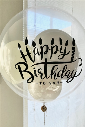 デザインステッカー / Happy Birthday キャンドル / バルーンや壁に!