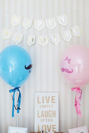 【結婚 電報】Balloon props 電報 Pink