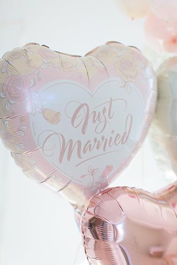 【結婚式 電報】人気1位 Pearl Rose Just Married