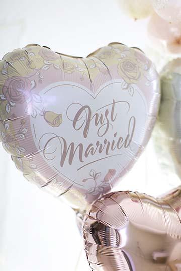【結婚式 電報】Pearl Rose Just Married