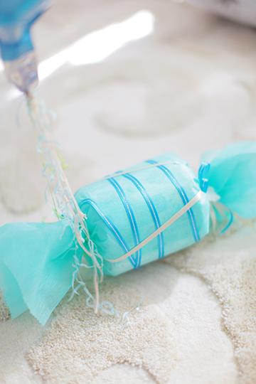 【出産祝い ベビーシャワー】おむつケーキBaby boy キャンディー