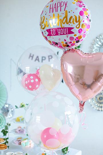 【誕生日 バルーン】人気3位 HAPPY Birthday to you PINK&GOLD