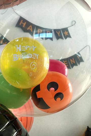 【大型】【誕生日  バルーン ハロウィン】カボチャ3兄弟のハッピーバースデー