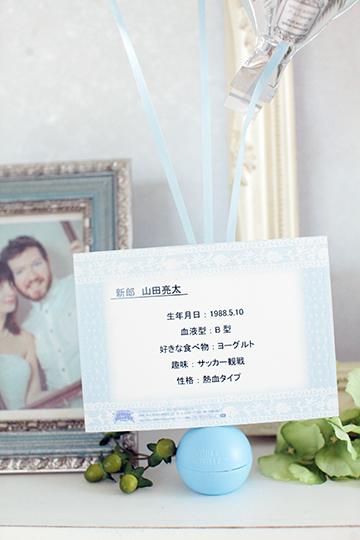 【結婚式 電報 送料無料】 ダブス&リング / ブルー