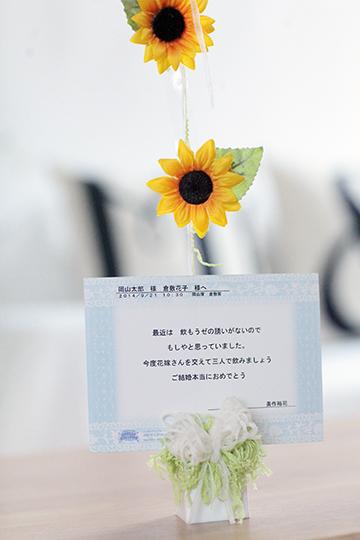 【結婚式 バルーン電報】NicoNico Sunflower