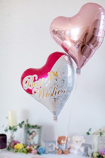 【結婚式 電報】Best Wishes Heart & テディベア