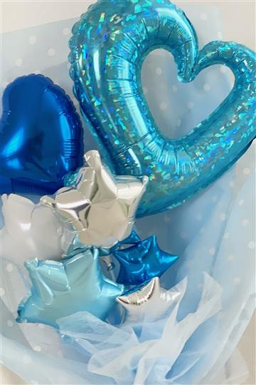 シャイニングブルー V バルーン花束