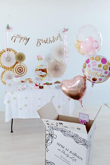 【誕生日 バルーン】人気2位 Little Birthday Pink&Gold