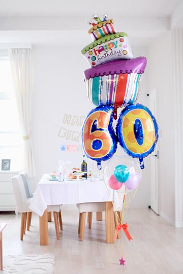【大型】【誕生日 長寿 バルーン】サプライズバースデー「10〜99歳」ファンキーケーキ