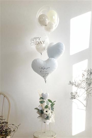 メッセージが選べる♪ボタニカルホワイトX BIRTHDAY