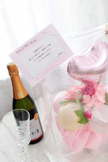 【電報 結婚式】スウィートガーデン/ピンクmc