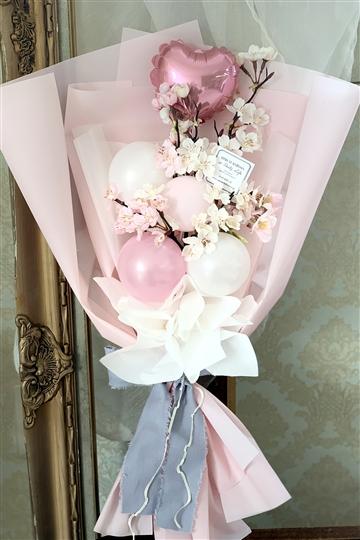 満開のさくら咲く バルーン花束