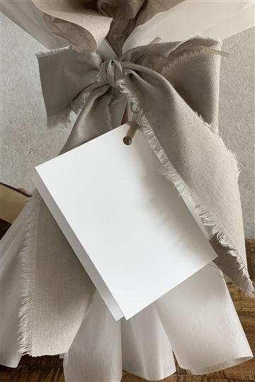 ボタニカルホワイトV バルーン花束