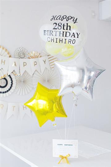 名前入れOK!! コロコロ&STAR ゴールド&シルバー 誕生日は年齢も!or おめでとう