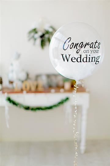 【結婚式 電報】フェザー in Congrats on your Wedding