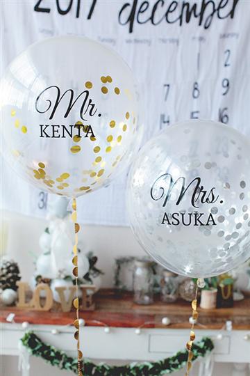 【結婚式 電報】新郎新婦の名前入り 「Mr.&Mrs.」コンフェティ