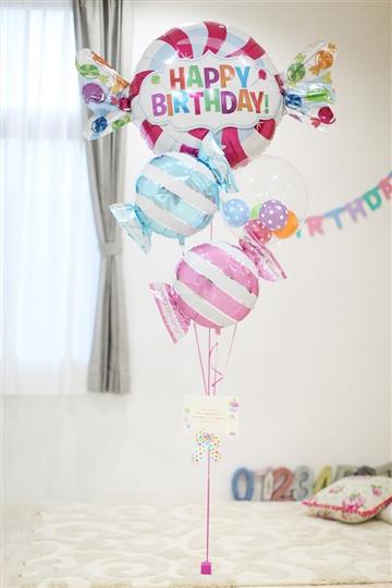 【大型】【誕生日 バルーン】スウィートバースデーキャンディ