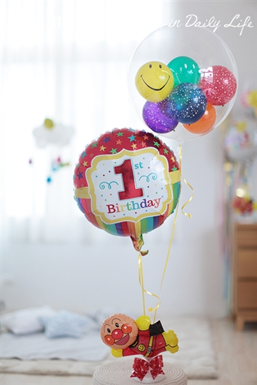 【1歳 誕生日 バルーン】1st Birthday アンパンマン Star