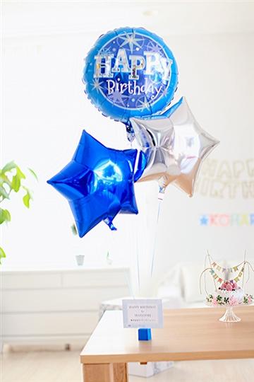 【誕生日 バルーン】 birthday☆ブルースパークル