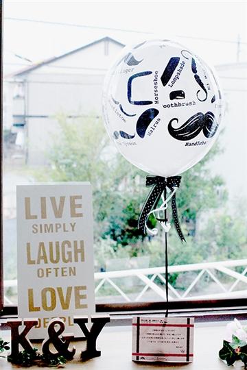 【結婚 電報】Balloon props 電報
