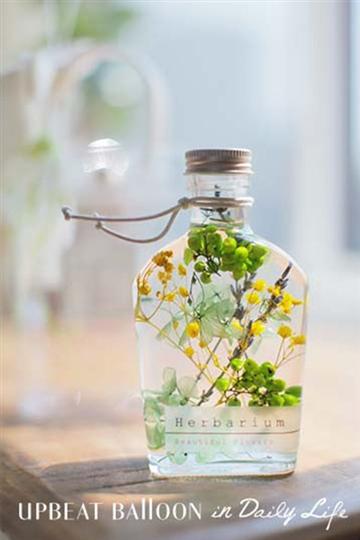 【選べるおもり】ハーバリウム グリーンボトル