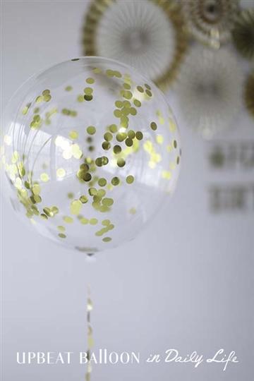 【誕生日 バルーン】 コンフェティバルーン スターダスト/ゴールド