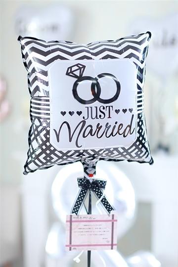 【結婚式 電報】Just Married Ring