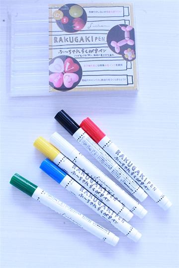 バルーンアートに落書き用 風船専用水性ペン 6色セット