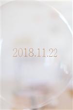 【結婚式 日付入れ】日付シール*Gold/�T