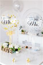 【結婚式 電報】Balloon props 電報「Mr.&Mrs.」コンフェティ