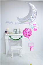 【誕生日バルーン】Shine on Birthday Girl with Moon