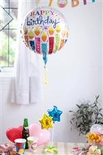 【誕生日 バルーン】Wスターバースデー/シルバー