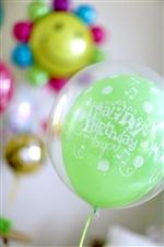 【誕生日  バルーン】ハッピーバースデートゥーユーgreen371