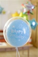 【誕生日  バルーン】バースデースパークルblue371