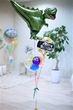 【誕生日  バルーン】ティラノザウルス BIRTHDAY