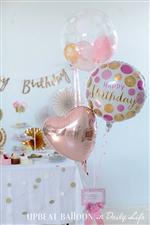 【誕生日 バルーン】人気1位 Little Birthday Pink&Gold