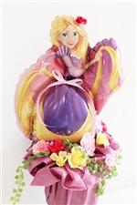 【誕生日 キャラクター バルーン】ディズニープリンセス「ラプンツェル」 卓上タイプ