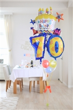 【大型】【誕生日 長寿 バルーン】サプライズバースデー「10〜99歳」カップケーキ