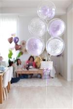 【大型】【古希 喜寿 長寿 誕生日 飾り付け バルーン】Pearl Lavender Damask