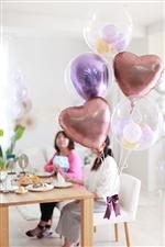 【大型】【古希 喜寿 長寿 誕生日 飾り付け バルーン】Chrome Purple Congrats