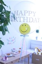 【誕生日 バルーン】フリンジバルーン330/スマイルバースデー/パステルピンク