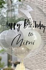名入れOK!! ステッカー / Happy Birthday to NAME バルーンや壁に!