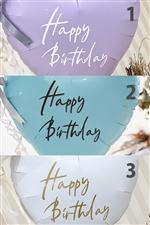 【3色から選ぶ】ステッカー / Happy Birthday   バルーンや壁に!
